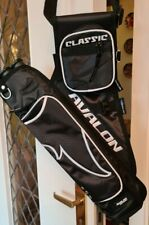 New Avalon Archery Classic 3 Tube Quiver Left Hand With Belt 2 Storage Pockets