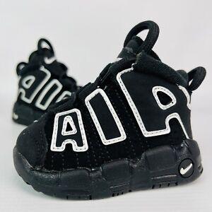 Nike Air More Uptempo Baby 2C Black White TD Retro Pippen Kids