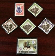 Upper Volta 2-Mint,4-Used Elephants, BattleTrenton Stamps,VfusedSeeDescr Fus1026