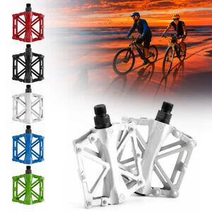 2pcs Mountain Bike Pedals Flat Platform Aluminum Alloy Sealed Bearing Pedals