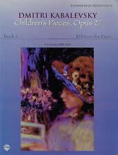 Dmitri Kabalevsky Children's Pieces, Opus 27 Book 2: 10 Pieces for Piano