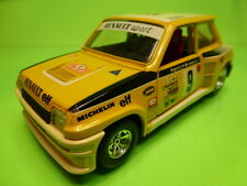 BBURAGO 0160 RENAULT 5 TURBO - RALLY MONTE CARLO No 9 - YELLOW 1:24 - GOOD