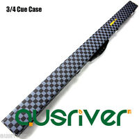 120cm Plaid PU 3/4 Billiards Pool Snooker Cue Foam Padded Case Storage