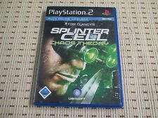 Splinter Cell Chaos Theory para PlayStation 2 ps2 PS 2 * embalaje original *