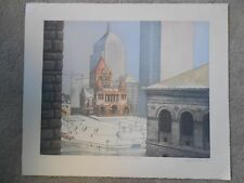 """Richard Haas """"Copley Square, Boston"""" Color Etching Signed & Numbered !!!"""