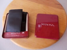 New Merona Trifold Wallet Black Security Card Pocket ID Window 6 Cards 2 Keys