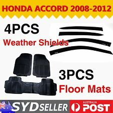 Cars Weathershields Window Visors & Floor Mat Guards For Accord Sedan 2008-2012