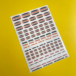 SLOT CAR 1/32nd scale Detail Masters 'Vintage Classic Race Rally' stickers SET 3