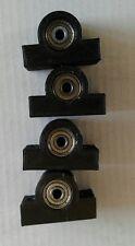 4 x Lagerbock für 4 mm Welle  Anhängerbau usw. mit je 2 Kugellagern schwarz