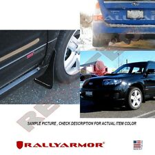 Rally Armor Basic Mud Flaps For 2003-2008 Subaru Forester w Black Logo