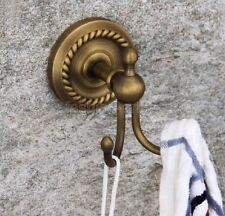 Wall Mounted Antique Brass Hardware Double Robe Hook Bathroom Hardware fba270