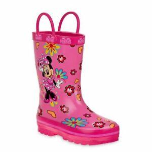 Disney Minnie Mouse Flower Power Rain Boots- Toddler Girls Size 11/12