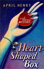HEART-SHAPED BOX (The) by April Henry *SIGNED* 2001 HBDJ 1ST/1ST Great Copy!
