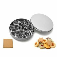 24X Star Heart Flower Round Cookie Cutter Stainless Steel Pastry Baking Mold Set