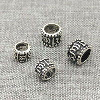 8pcs of 925 Sterling Silver Om mani padme hum Beads for Yoga Meditation