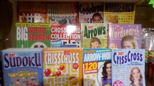 4 assorted puzzle books. Various types. Random mix, crosswords, wordsearch etc