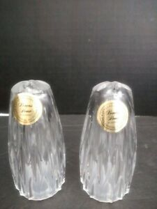 Princess House Crystal #832 Highlights Salt and Pepper Shakers