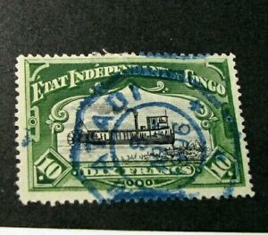 Belgian Congo Stamp Scott# 30 River Steamer on the Congo 1898 H123