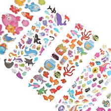 5pcs/Lot Bubble Stickers 3D Cartoon KIds Classic Toys Sticker School Reward NEW