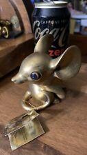 "Vtg 4"" Gold Leaf Porcelain Mouse Figurine Design by Freeman for George Good Taiw"