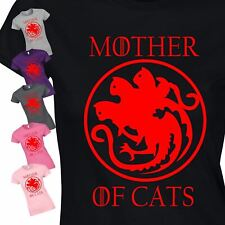 New Mother of Cats Vintage Womens Present Top Inspired Ladies Gift T-Shirt