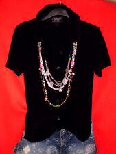 ORSAY BLUSE SHIRT TUNIKA SCHWARZ BOHO ROCKABILLY S 36 BLOGGER TOP !!!