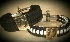 ** POW/MIA **adjustable survival bracelet Army, Navy, US Air force, USMC