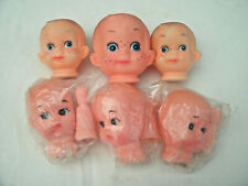 Vintage Boy Doll Heads/Hands for Doll Making-Molded Hair-[6] -New/Pkg