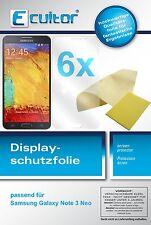 6x Samsung Galaxy Note 3 Neo Protector de Pantalla transparente