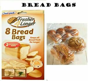 Sealapack 8 Bread Bags Keeps Loaf Fresher For Longer Two Sizes Of Bags+UK SELLER