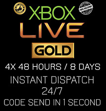 Microsoft Xbox Live 4x 48 Hour / 4x 48hr / 8 Days Gold Code INSTANT DISPATCH24/7