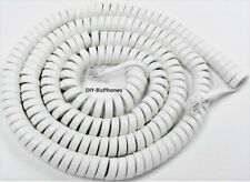 Generic White 25ft Long Handset Cord Phone Receiver Curly Coil Spring New In Bag