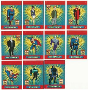 SUPERMAN ACTION PACKS POP-OUT CARDS - 1996 SKYBOX TRADE CARDS - PART SET (NM04)