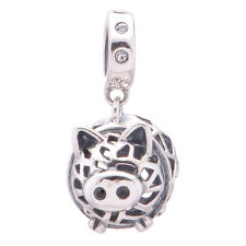 Piggy Bank Charm, Silver jewellery, Charms for Bracelet, Girls Necklace Pendant