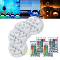 4PC Swimming Pool Light RGB LED Bulb Underwater Color Vase Decor Lights & Remote