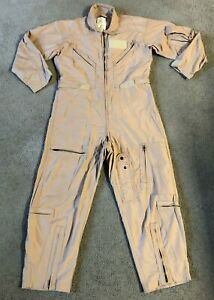 Carter Industries U.S. Military Men's Tan Flyers Flight Suit Coveralls  Size 42S