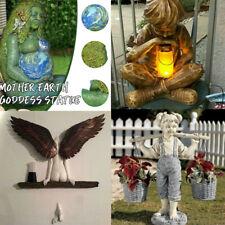 Flowers For Felicity Little Girl Garden Statue Crafted Resin Sculpture Decor
