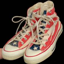 Old USA-MADE Converse All Star Chuck Taylor AMERICAN FLAG womens 8 (men 6) shoes