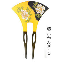 Handwork Acrylic Peony Japanese Hairpin Kanzashi  for Kimono Fairy Geisha Gift