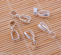 30 Pieces Silver-plated Pinch Bails Charm Pendants Connectors Jewelry Findings