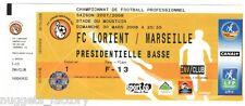 Billet  / Place  OM Olympique de Marseille - FC Lorient  vs OM  ( 051 )