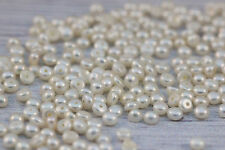 2.5-3mm White freshwater pearl loose button flat back cabochons 50pcs Wholesale