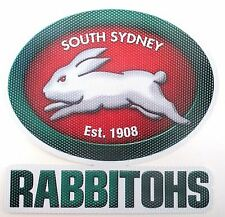 62824 SOUTH SYDNEY RABBITOHS NRL CLUB NEW LOGO SEE THRU CAR WINDOW STICKER DECAL