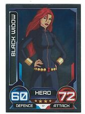 Marvel Hero Attax Avengers Assemble Card 17 Black Widow Topps Europe Ltd 2010