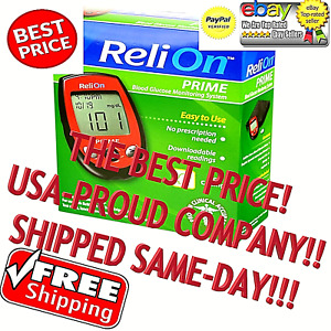 RELION PRIME BLOOD GLUCOSE BLOOD METER NEW RED FAST/FREE SHIPPING BEST PRICE USA