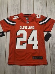 New Youth Nike Cleveland Browns Nick Chubb #24 Jersey Size Kids Small Orange