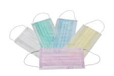 Mundschutz 3-lagig mit elastischer Schlaufe grün 50 Stück