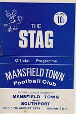 MANSFIELD TOWN FOOTBALL PROGRAMMES 1974-75 ~ 4TH DIVISION CHAMPIONS!! YOU CHOOSE