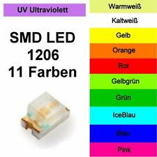 SMD LED 1206 in 11 verschiedenen Farben 1/10/25/50/100 Stück zur Auswahl