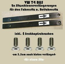 2xSitzschienenverlängerung passt bei VW T4 Bus inkl.Schrauben für 1 Sitz
